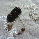 Collier Duplo et perles, chaine argentée.