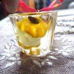 Collier Trognon de pomme dans résine moulée.