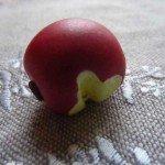 Pendentif pomme croquée.